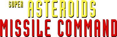 Super Asteroids & Missile Command - Clear Logo