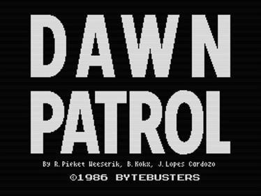 Dawn Patrol - Screenshot - Game Title