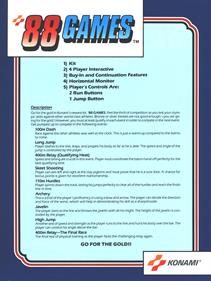 '88 Games - Advertisement Flyer - Back