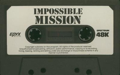 Impossible Mission - Cart - Front