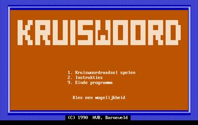 Kruiswoord - Screenshot - Game Title