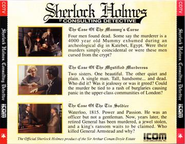 Sherlock Holmes: Consulting Detective - Box - Back