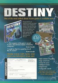 Destiny - Advertisement Flyer - Front