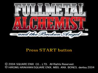 Fullmetal Alchemist and the Broken Angel - Screenshot - Game Title