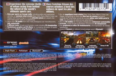 Asphalt: Urban GT - Box - Back