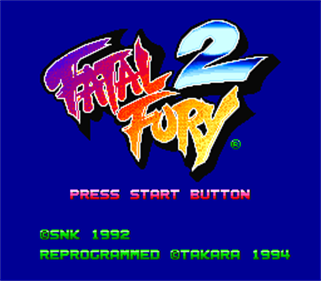 Fatal Fury 2 - Screenshot - Game Title