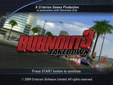 Burnout 3: Takedown - Screenshot - Game Title