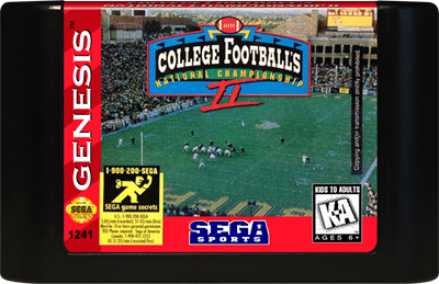 College Football's National Championship II - Cart - Front