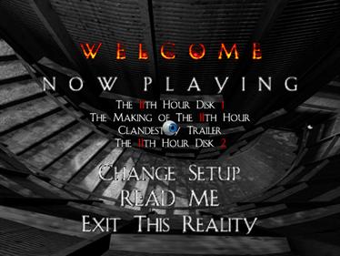 The 11th Hour - Screenshot - Game Select