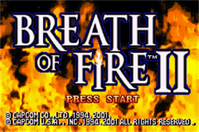 Breath of Fire II - Screenshot - Game Title