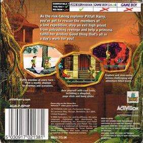 Pitfall: The Lost Expedition - Box - Back