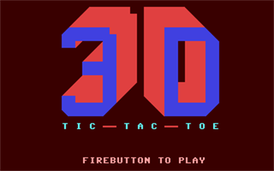 3D Tic-Tac-Toe (COMPUTE! Publications, Inc.) - Screenshot - Game Title