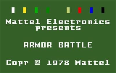 Armor Battle - Screenshot - Game Title