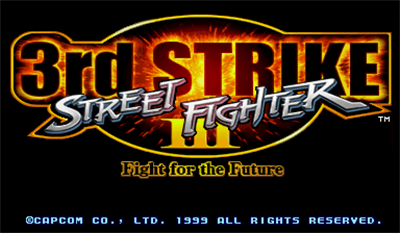 Street Fighter III: 3rd Strike: Fight for the Future - Screenshot - Game Title