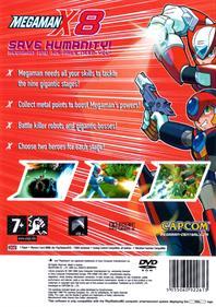 Mega Man X8 - Box - Back