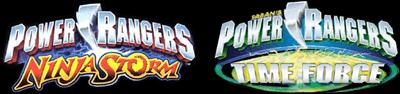 2 Games in 1: Power Rangers: Ninja Storm + Power Rangers: Time Force - Clear Logo
