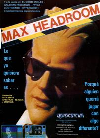 Max Headroom - Advertisement Flyer - Front