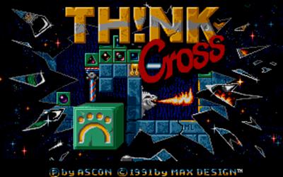 Th!nk Cross - Screenshot - Game Title