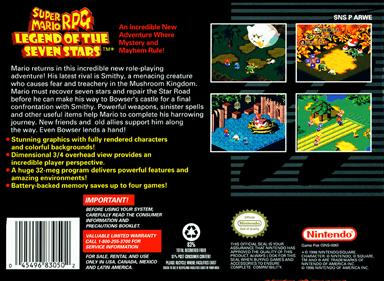 Super Mario RPG: Legend of the Seven Stars - Box - Back