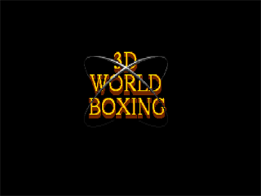 3D World Boxing - Screenshot - Game Title