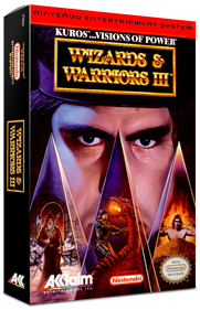 Wizards & Warriors III: Kuros ...Visions of Power - Box - 3D