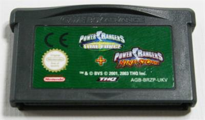 2 Games In 1 Double Pack: Power Rangers: Time Force / Power Rangers: Ninja Storm - Cart - Front