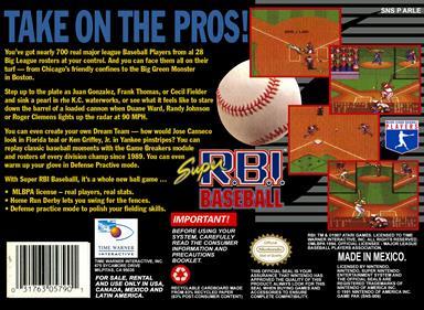Super R.B.I. Baseball - Box - Back