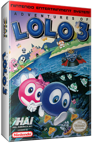 Adventures of Lolo 3 - Box - 3D