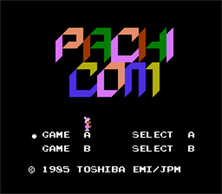Pachicom - Screenshot - Game Title