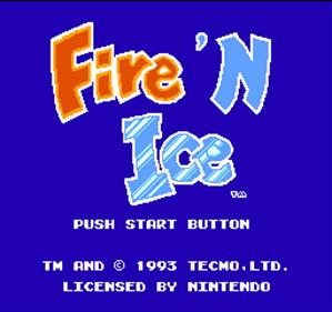 Fire 'n Ice - Screenshot - Game Title