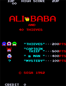 Ali Baba and 40 Thieves - Screenshot - Game Title