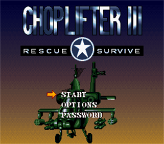 Choplifter III: Rescue-Survive - Screenshot - Game Title