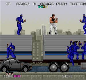 Bad Dudes Vs. DragonNinja - Screenshot - Gameplay