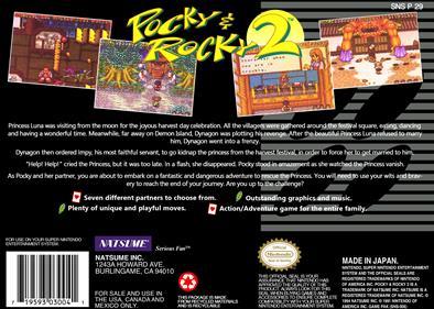 Pocky & Rocky 2 - Box - Back