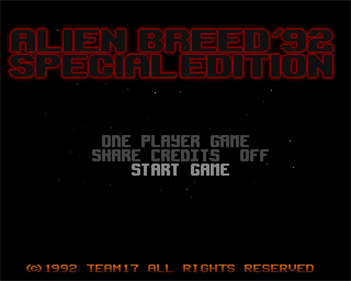 Alien Breed Special Edition & Qwak - Screenshot - Game Title