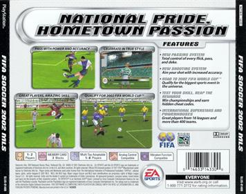 FIFA Soccer 2002: Major League Soccer - Box - Back