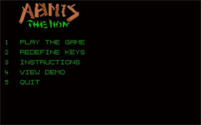 Abmis the Lion - Screenshot - Game Title