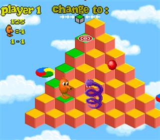 Q*bert 3 - Screenshot - Gameplay