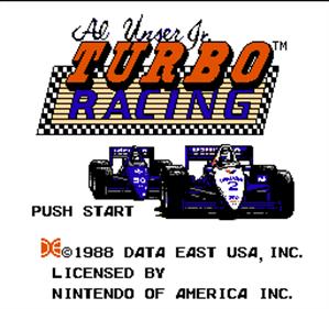Al Unser Jr. Turbo Racing - Screenshot - Game Title