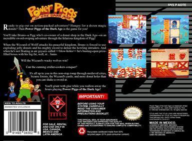 Power Piggs of the Dark Age - Box - Back