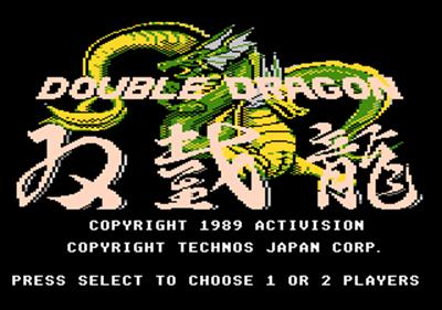 Double Dragon - Screenshot - Game Title
