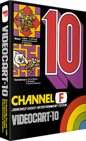Videocart-10: Maze, Cat and Mouse - Box - 3D