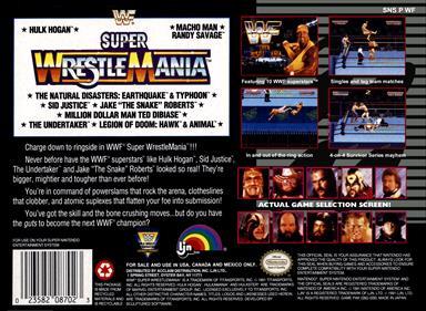 WWF Super WrestleMania - Box - Back