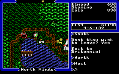 Ultima V: Warriors of Destiny - Screenshot - Gameplay