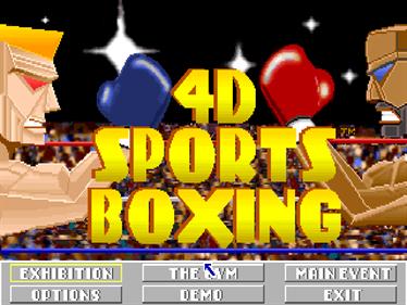 4-D Boxing - Screenshot - Game Select