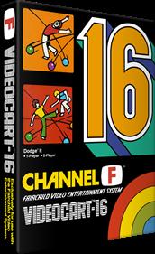 Videocart-16: Dodge-It - Box - 3D