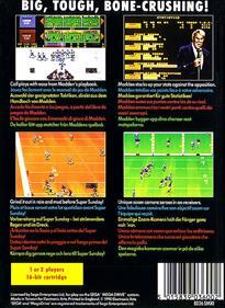 John Madden Football - Box - Back