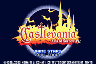 Castlevania: Aria of Sorrow - Screenshot - Game Title