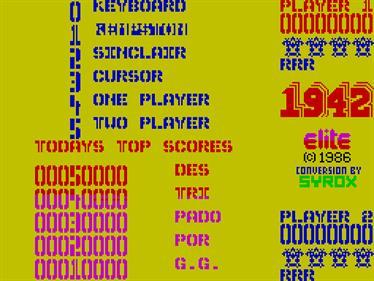 1942 - Screenshot - Game Select