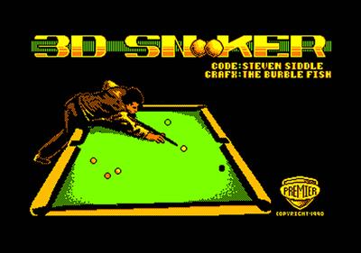 3D Snooker - Screenshot - Game Title
